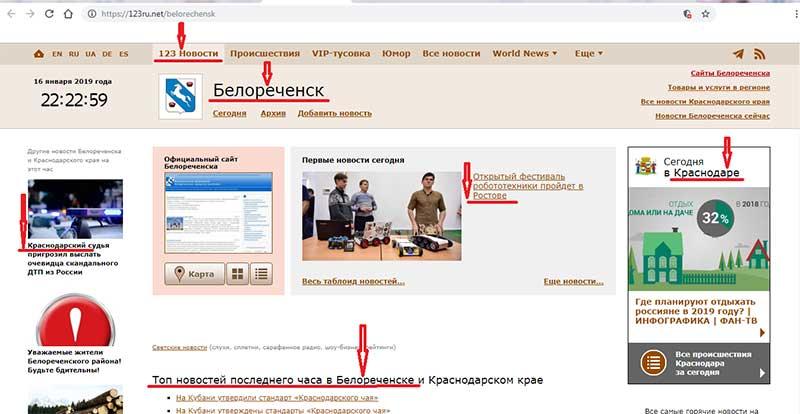сайт 123.ru.net