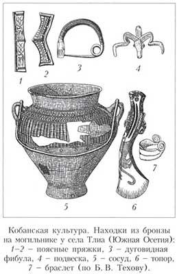 Рисунок изделий кобанской культуры
